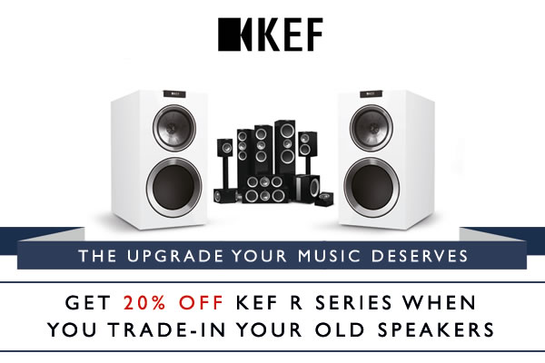 Trade in your old speakers for 20% off KEF R Series